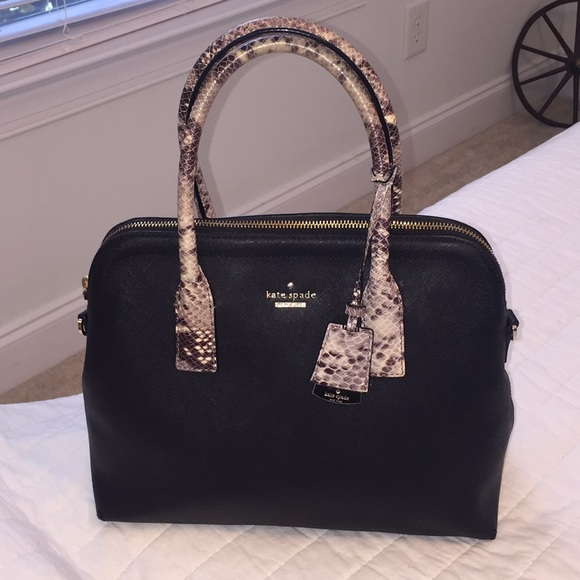 kate spade Handbags - Kate Spade Dome Satchel with Python Handles